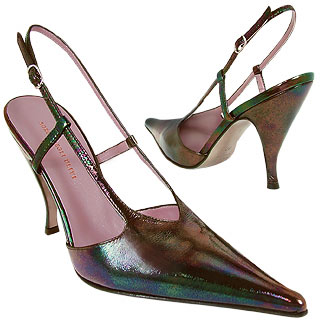 Opalescent Black Evening Pointy Slingback    Manolo Likes!