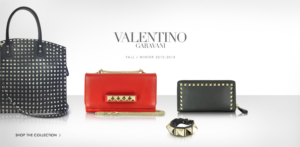 VALENTINO GARAVANI: Shop the Fall/Winter 2012-2013 Leather Bags & Accessories Collection